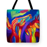 Abstract Mustangs Tote Bag