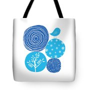 Abstract Nature Blue Tote Bag