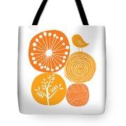 Abstract Nature Orange Tote Bag