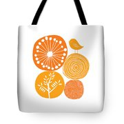Abstract Nature Orange Tote Bag
