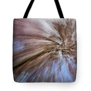 Abstract Of A Spring Tree In Bloom. In Camera Effect. Tote Bag