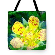 Abstract Of A Wild Buttercup Flower Tote Bag