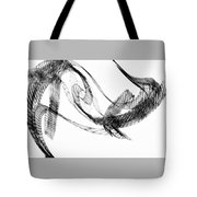 Abstract Of Dolphins In Courting Ritual Tote Bag