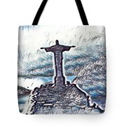 Abstract Of Our Saviour  Tote Bag