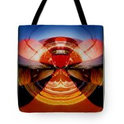 Abstract Old Car Spare Tire Tote Bag