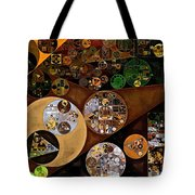 Abstract Painting - Antique Brass Tote Bag