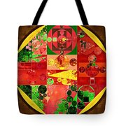 Abstract Painting - Bistre Tote Bag