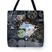 Abstract Painting - Mid Grey Tote Bag