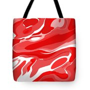 Abstract Painting- Red Waves Tote Bag