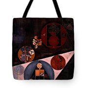 Abstract Painting - Very Dark Brown Tote Bag