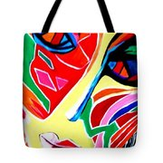 Abstract Painting - Woman Of Colors Tote Bag