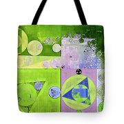 Abstract Painting - Yellow Green Tote Bag