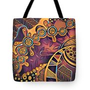 Abstract Pattern With Purple Tote Bag