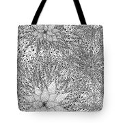 Abstract Pen And Ink Design In Black And White Tote Bag