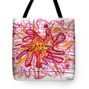 Abstract Pen Drawing Fifteen Tote Bag