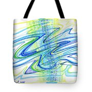 Abstract Pen Drawing Forty Tote Bag