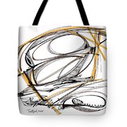 Abstract Pen Drawing Four Tote Bag