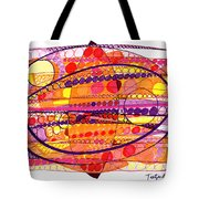Abstract Pen Drawing Fourteen Tote Bag