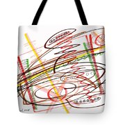 Abstract Pen Drawing Seven Tote Bag