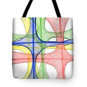 Abstract Pen Drawing Seventeen Tote Bag