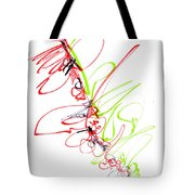 Abstract Pen Drawing Seventy Tote Bag by Lynne Taetzsch