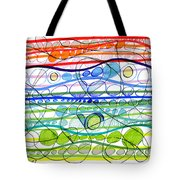 Abstract Pen Drawing Sixteen Tote Bag
