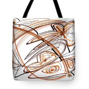 Abstract Pen Drawing Ten Tote Bag