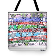Abstract Pen Drawing Thirteen Tote Bag