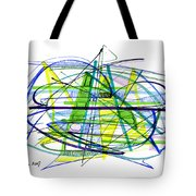 Abstract Pen Drawing Thirty Tote Bag