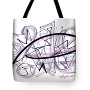 Abstract Pen Drawing Thirty-six Tote Bag