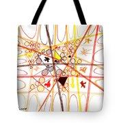 Abstract Pen Drawing Three Tote Bag
