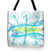 Abstract Pen Drawing Twenty-five Tote Bag