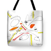 Abstract Pen Drawing Twenty-four Tote Bag