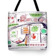 Abstract Pen Drawing Twenty-three Tote Bag