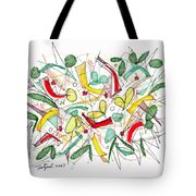 Abstract Pen Drawing Twenty-two Tote Bag