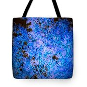 Abstract Pf Tree In Blue And Black Tote Bag
