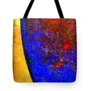 Abstract Photo Blue Yellow Tote Bag