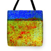 Abstract Photo In Yellow And Blue Tote Bag