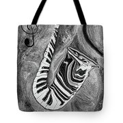 Piano Keys In A Saxophone 1 - Music In Motion Tote Bag