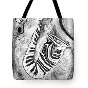Piano Keys In A Saxophone 2 - Music In Motion Tote Bag