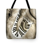 Piano Keys In A Saxophone 3 - Music In Motion Tote Bag