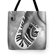 Piano Keys In A Saxophone 4 - Music In Motion Tote Bag