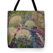 Abstract Puffball Tote Bag