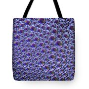 Abstract Purple Alien Bubble Skin Tote Bag