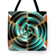 Abstract Radial Object Tote Bag