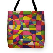 Abstract Rainbow Of Color Tote Bag