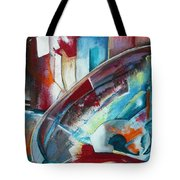 Abstract Red And Blue A Tote Bag