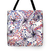 Abstract Red And Blue Design  Tote Bag