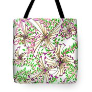 Abstract Red And Green Design #1 Tote Bag