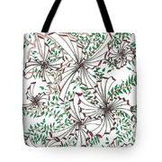 Abstract Red And Green Design  Tote Bag